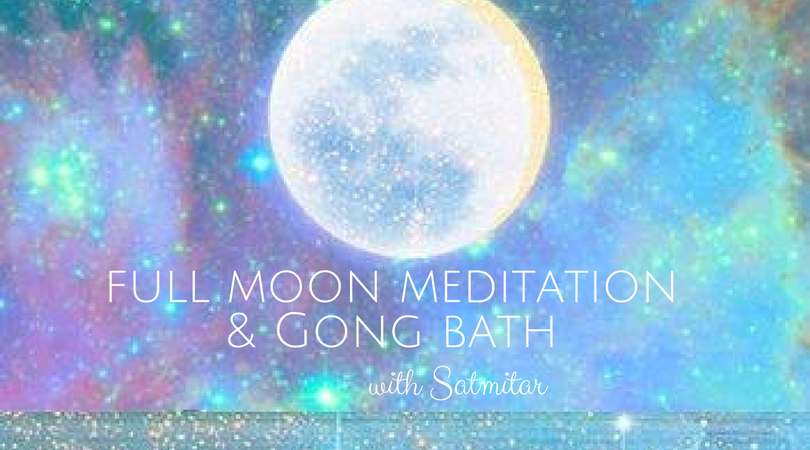 Full Moon Meditation & Gong Bath for INTUITION with ...